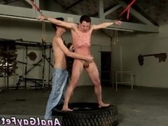 Bondage stocky male gay The caning catches the guy off-guard, and the