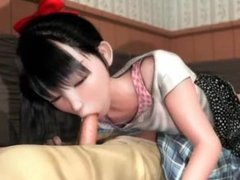 Very exciting cartoon with very young girl
