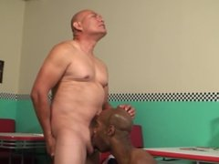 Beefy latino gangster gets some big black dick in him