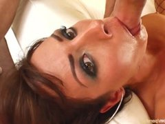 Janice gets a creampie after sex at All Internal
