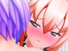 Hikari and Tobaru the sticky Flight - 3D Futanari/DickGirl HD