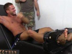 Teen boy kiss feet gay Muscular Tyrell Tickled