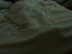 German wife masturbates in bed. Hidden camera