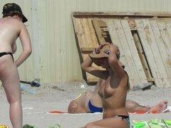 Horny Topless Teen Big Tits Amateur Voyeur Beach