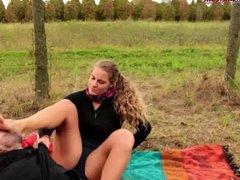 The Voyeur Ep1- Part 3- Outdoor Foot Domination