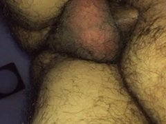 Hard dick bare  in a   hairy asshole
