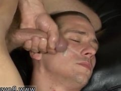 Close up guys eating cum gay first time