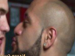 Black hunk gets facial