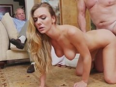 Old swinger couples and old man creampie