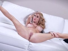 Milf Sarah gets her share of cock in this POV scene