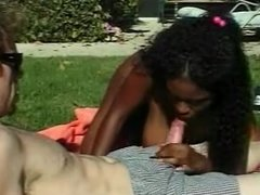 BLEACHED: Busty Ebony Fucked by White Cock Outdoors BWC
