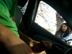 BOY FLASHING HIS DICK IN CAR
