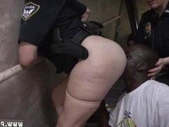 Cop fucks guy with strapon first time