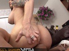 Brunette Babe Facesitting Ass Licking Cum in mouth Paris Ken