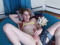 TS Pokemon Misty Cums on Herself and eats it