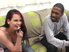 Kami has her first black dick and in the ass!