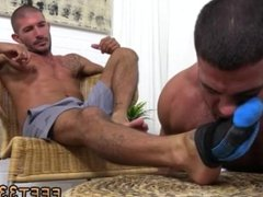 Young gay boy sex in torn tight jeans and