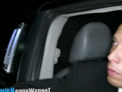 Reality teen spunked limo