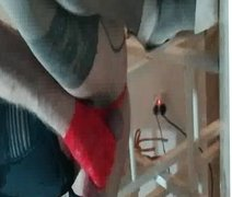 red gloves and nylon