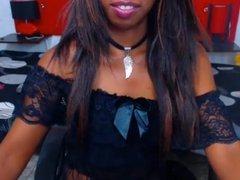 Ebony, Black Teen stripping in Webcam, great Tits!
