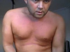 Handsome hunk showing his nice body