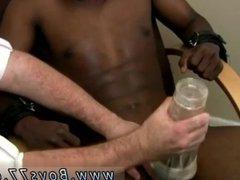 Black men paddling and very petty black gay
