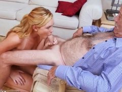 Old asian grandpa and lexi belle old man