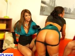 Piss loving euro doggystyled in threesome