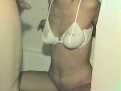 Piss on Woman Wearing Bra - Video 124