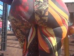 Mega booty in spandex