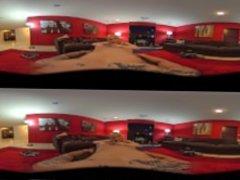 VR Steroscopic 360 - Nikki Delano Talks Dirty as She Rides Derrick Pierce