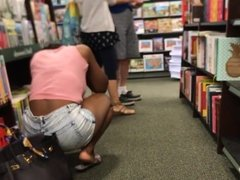 big booty in the book store