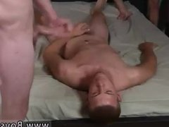 Tee boy jerk each other and lick cum on a