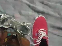cum on friend heel shoe