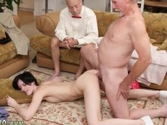 Old white man gets fucked in the ass by two
