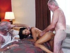 Old big tit milf lesbian and helping old