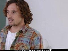 TeenPies - Teen Gets Creampied by Nerdy Neighbor