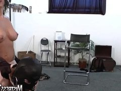 Mistress Tangent femdom trample and pantyhose tease