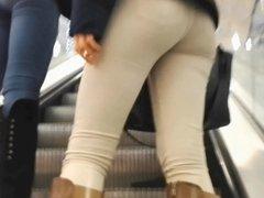 ass in tight white jeans voyeur