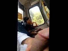 Masturbation in bus 3