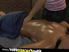 Strap on dildo in Jennifer Dark anal hole