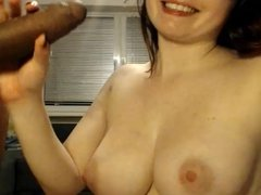 Big Tits Nerdy Teen Sucks Cock On Webcam