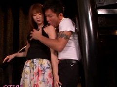 Squirting japanese model fucks after fingered