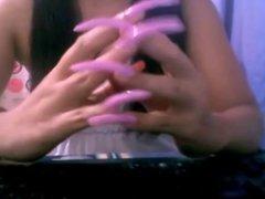 HLN , beautiful long nails