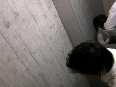 Amateur Japanese fun in change room