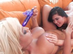 Girl on girl action with London Keyes and Bridgette B