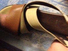 Masturbating on mom's flat sandals