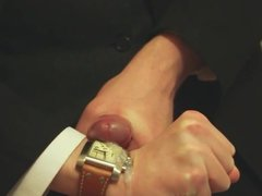 SUIT WANK WITH FLATMATES EXPENSIVE TW STEEL WATCH