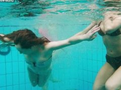3 girls have fun in the water