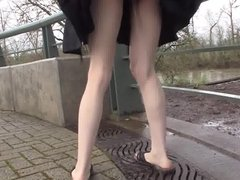 pee in a skirt in public